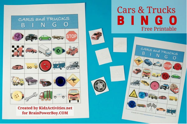 Do you know of a kid who loves vehicles? This free printable cars and trucks bingo game will be a hit! Click through to the site to print your free bingo game today.