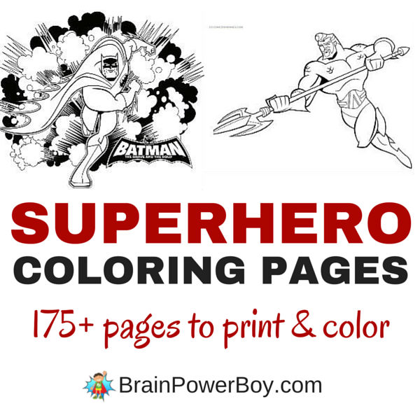 175 Free Printable Superhero Coloring Pages