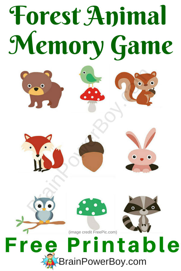 Super cute printable memory game for kids. Your kids are going to love this adorable forest animal game! Click through to print your free copy