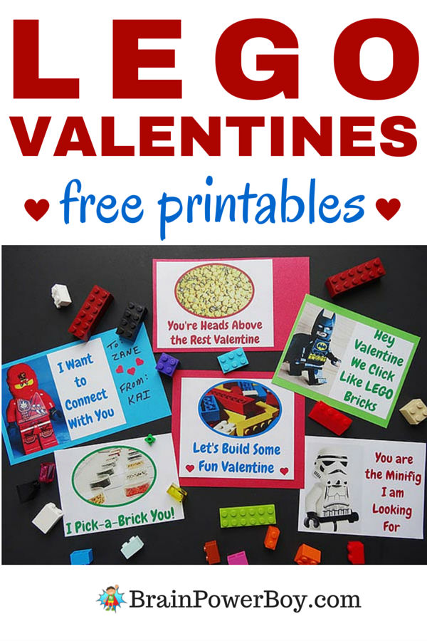 Yay! Free printable LEGO Valentine cards! I know LEGO fans are going to love giving these out.