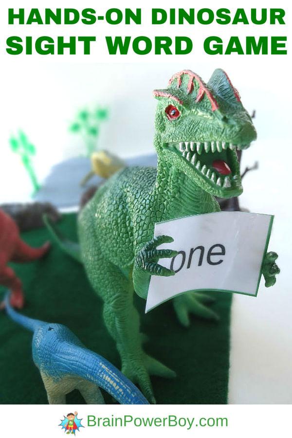 Dinosaur Free Printable Sight Word Game
