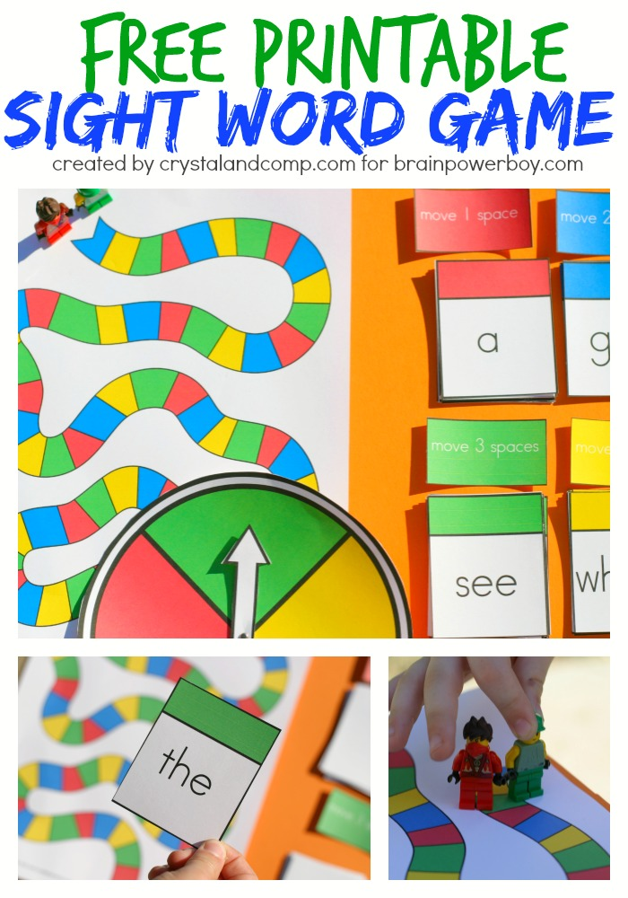 Crazy image inside free printable sight word games