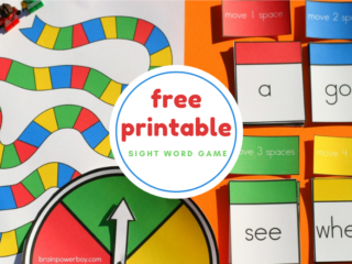 Free Printable Sight Word Game for Kids