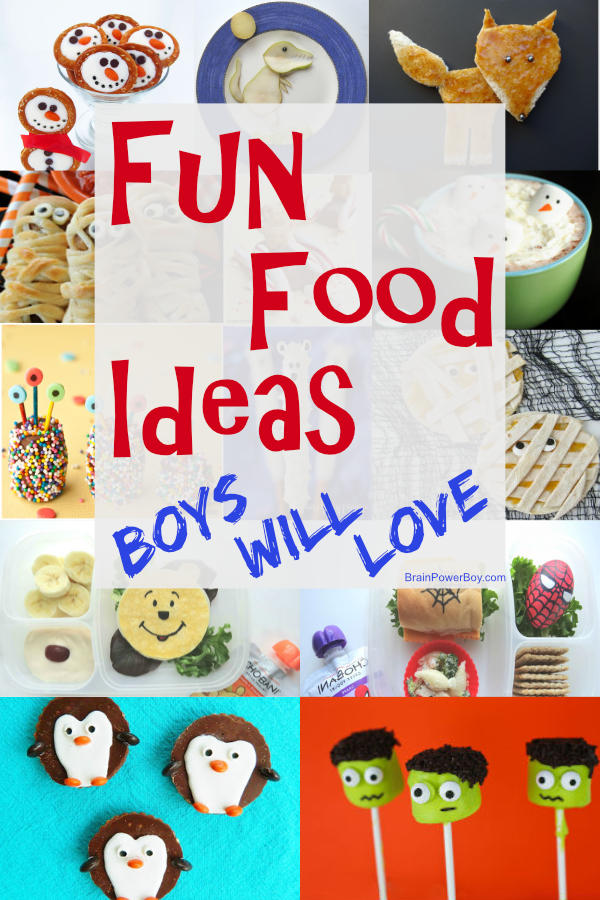 Super fun food ideas that boys will really go for.