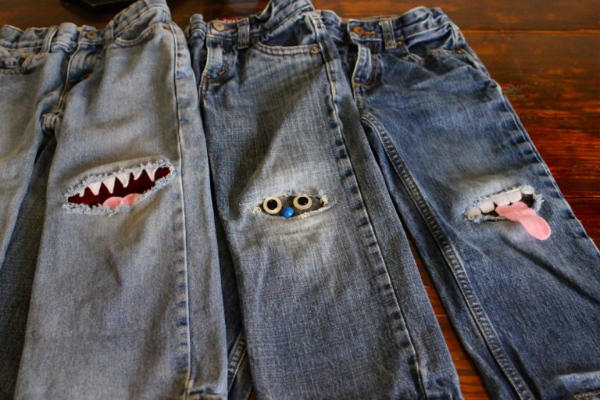 Fun Monster Knee Patches