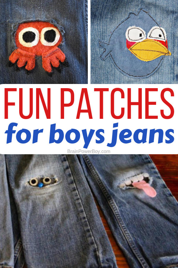 These fun patches for boys jeans will not only fix the holes in the knees but will look super cool while doing so!
