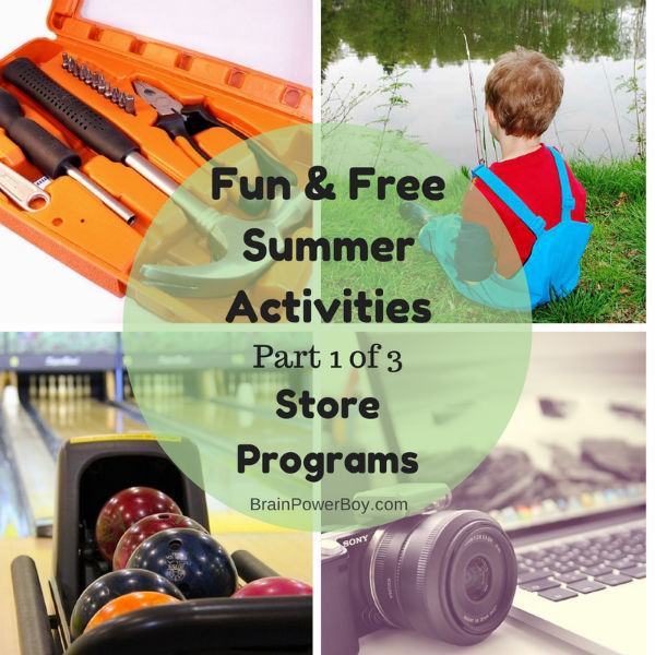 Great summer activities offered by store and businesses. Part 1 of 3 in a series of activities for boys.
