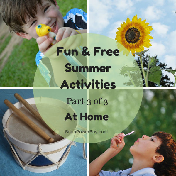 Fun and Free Summer Activities for at Home. Unique ways to learn at home this summer.