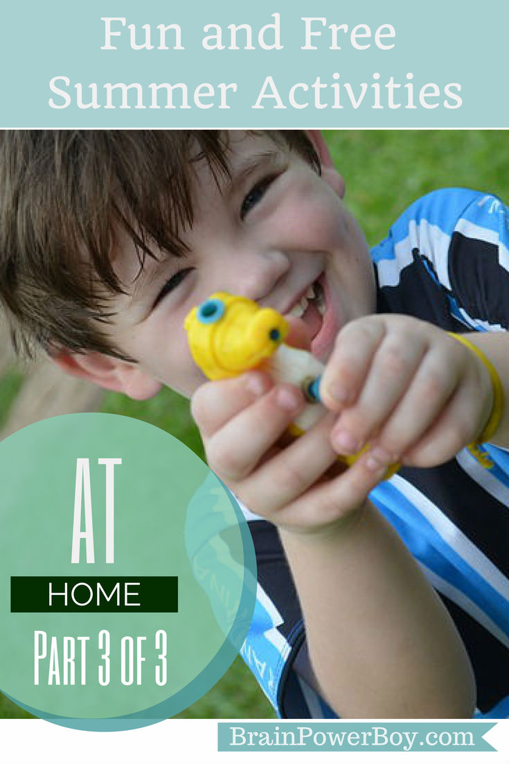 Fun and Free Summer Activities for at Home | BrainPowerBoy