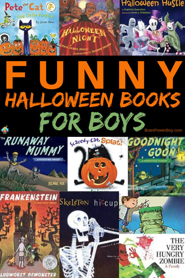 Awesome funny Halloween books for boys! These are sure to get them howling with laughter.