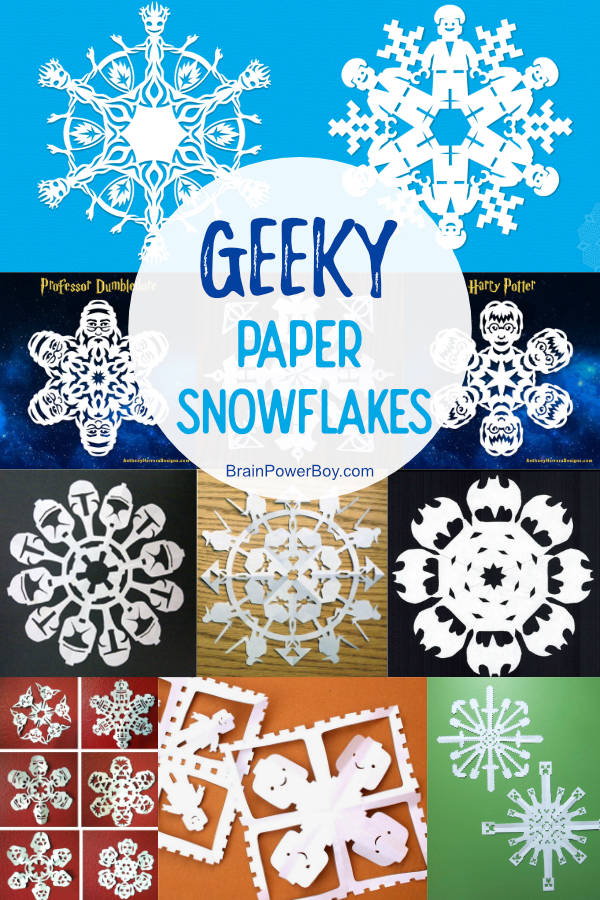 Not to be missed Geeky Paper Snowflakes