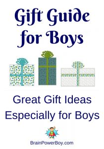 Growing Gift Guide for Boys of all ages.