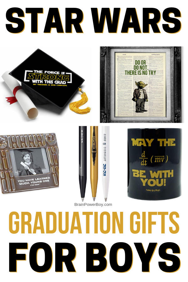 Graduation Gifts for Boys Who Are Star Wars Fans! They are going to love what you get them when you use this list!!