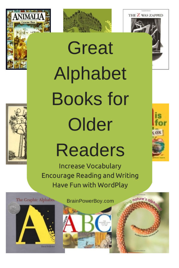 Great Alphabet Books for Older Readers. Wait until you see all of these wonderful books!