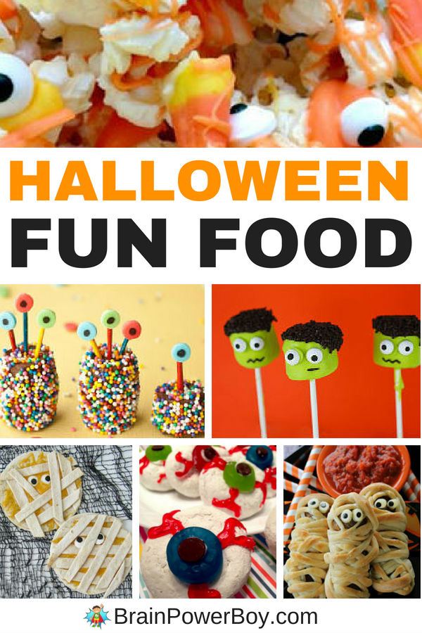Fun and slightly creepy spooky ideas for Halloween parties, Halloween events and for Halloween snacks and/or dinner.
