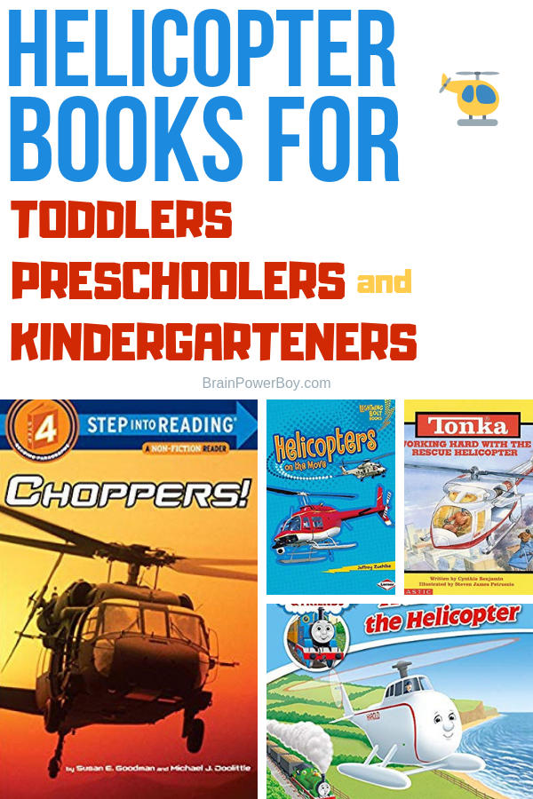 The very best helicopter books for young readers. These are great for toddlers, preschoolers, kindergarteners and up to age 7. If you know someone who loves helicopters, make sure you check out this book list.