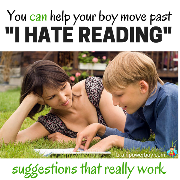 The U.S. Department of Education reading tests for the last 30 years show boys scoring worse than girls in every age group, every year. If your boy says he hates reading, now is the time to take action. Click through to read tips and suggestions that really work. You can help him!