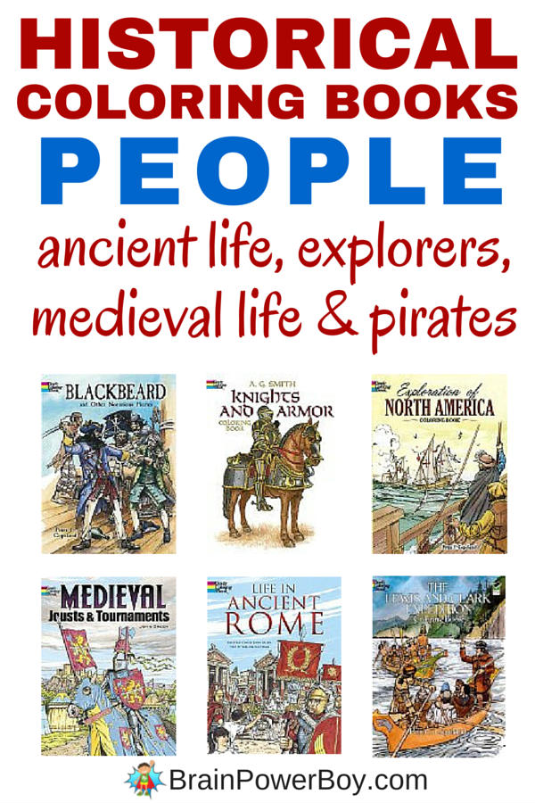 Learning about History: People Historical Coloring Books - Brain ...