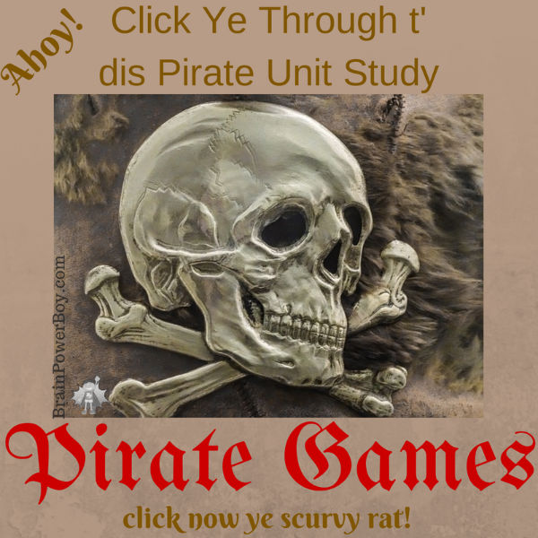Pirate Learning Games! We are starting a big unit study on pirates starting with fun pirate games.