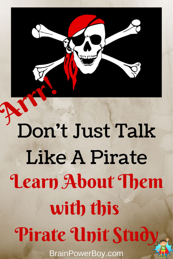 Learn About Pirates Matey with this Pirate Unit Study. Lot of fun ways to learn.