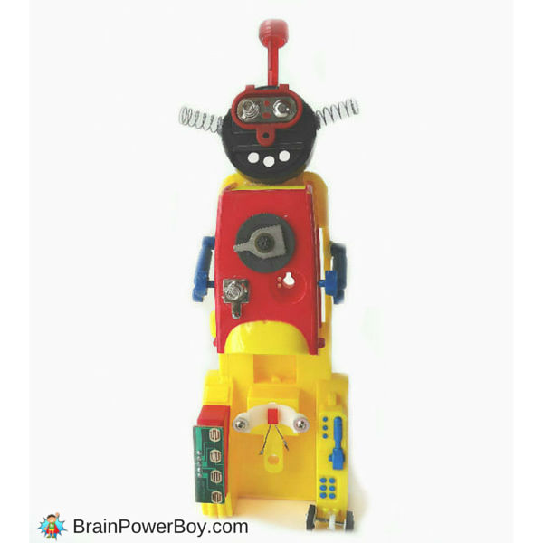Make your own recycled toy robot. Part of a free reduce, reuse and recycle homeschool unit study.