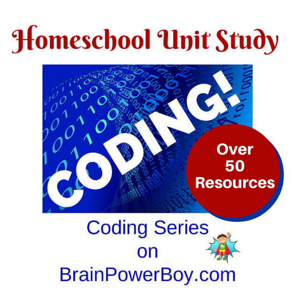 Homeschool Unit Study on Coding from http://brainpowerboy.com
