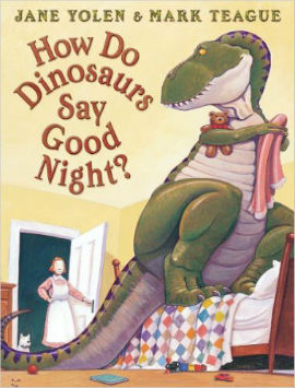 How do Dinosaurs Say Goodnight features the proper names of dinosaurs which boys will really like