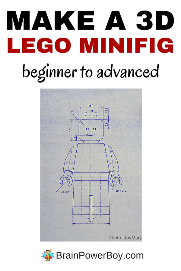 Make a 3d lego minifig brain power boy directions and video tutorials will teach you how to make a 3d lego minifig there malvernweather Gallery