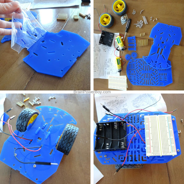 Learn how to make a robot. Everything included for four awesome projects. (ad with Home Science Tools)