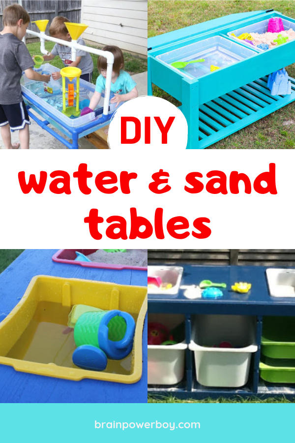 These DIY water and sand tables are just what you need for your backyard! If you want to make a water or sand table these are the ones you HAVE to see!