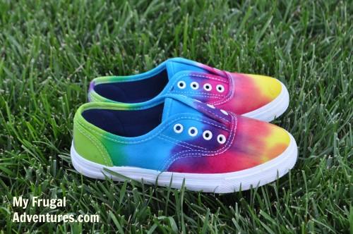 DIY Tie Dye Shoes
