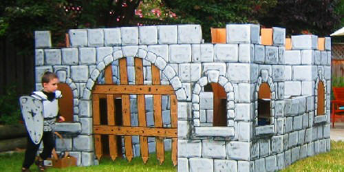 How to make a Cardboard Castle for Outside