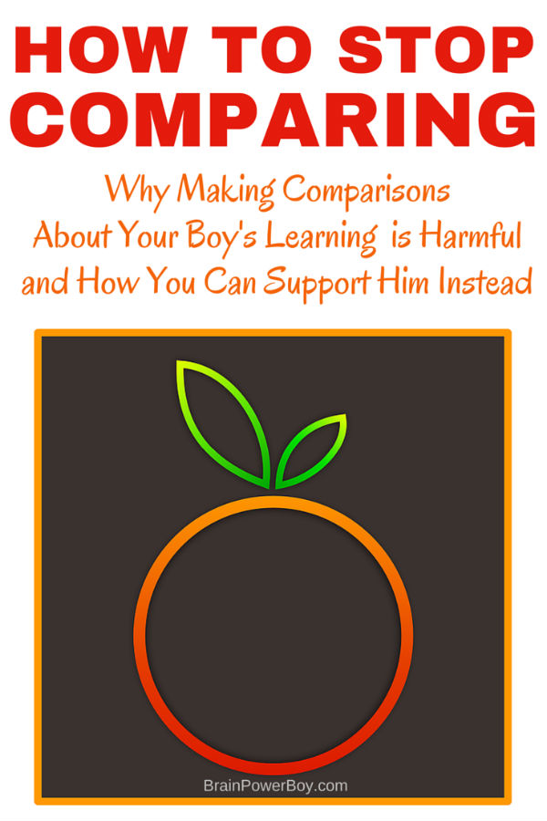Are you caught up in comparing what your son is learning to what other boys are learning? Are you forcing him to do activities you found on Pinterest that he has no interest in? Did you get caught up in the whole social media comparison circus? It almost happened to me and I am here to tell you - you can stop! Find out why all of this comparing is harmful to your boy and how you can support him instead.