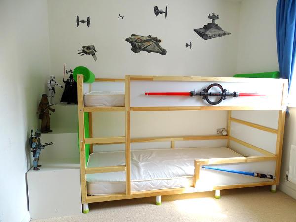 IKEA Hack Kura Star Wars Bed