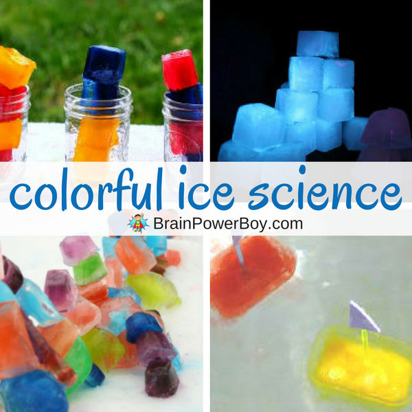 Beautiful, aren't they? Try these ice science experiments using colored ice! Get these and all the other ice science ideas by clicking.