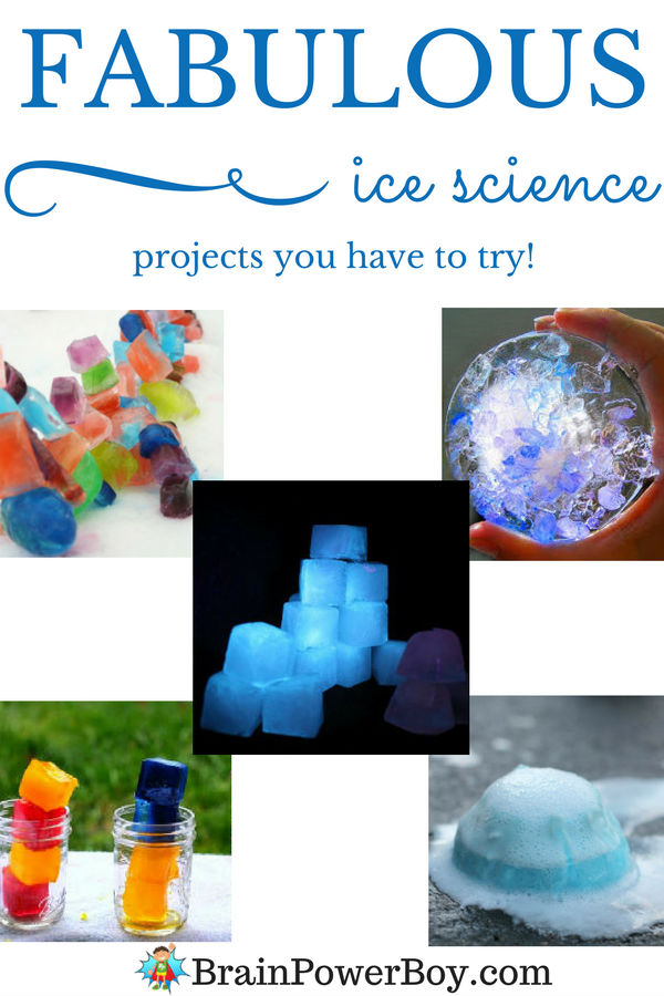 Ice science projects are great for summer or winter and these choices are simply fabulous! Homeschoolers, teachers, and parents, you can get all the wonderful ice science ideas you need by clicking the image.