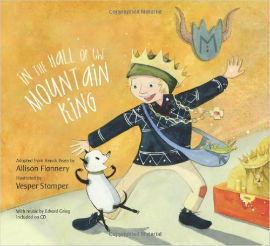 In the Hall of the Mountain King picture book includes a CD for a full musical experience boys will enjoy.