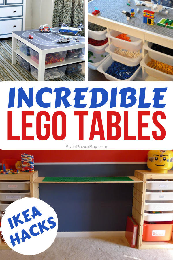 Incredible LEGO Tables! You have to see these! They are super cool and you will totally want to make one.