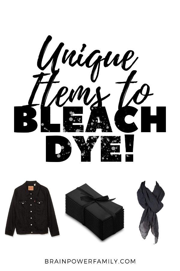 Bleach Tie Dye Items