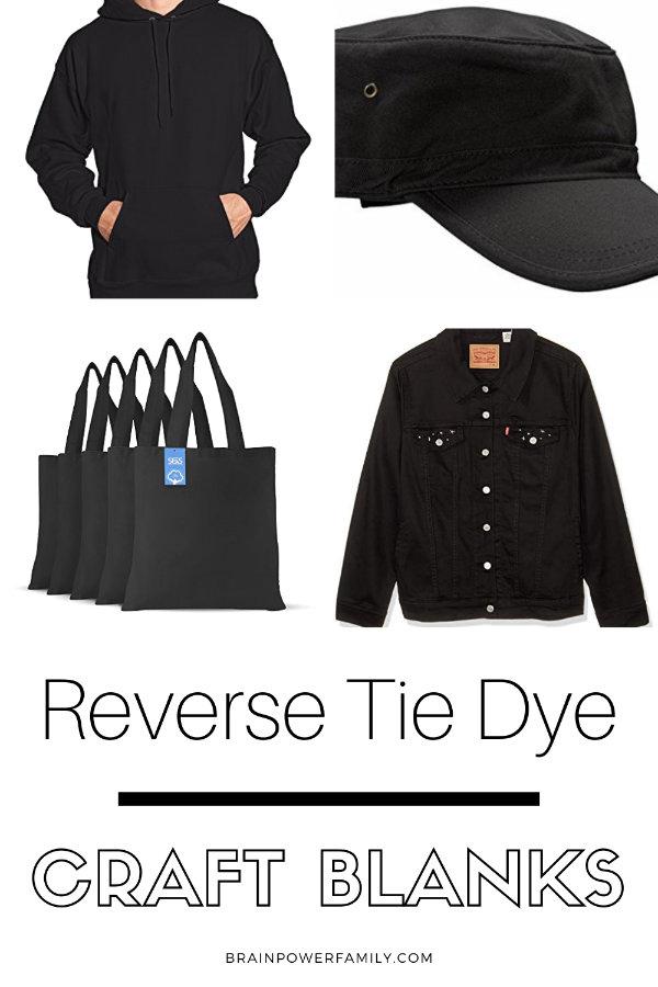 Reverse Tie Dye Items to Bleach