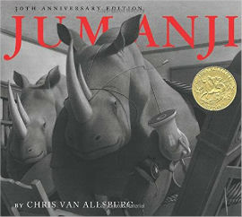 Jumanji gives boys with imaginations the perfect book to read.