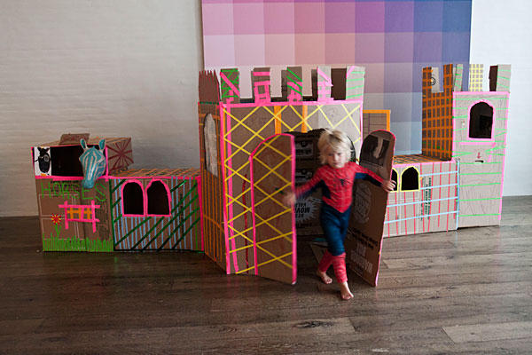 Kid Made Easy Cardboard Play Castle