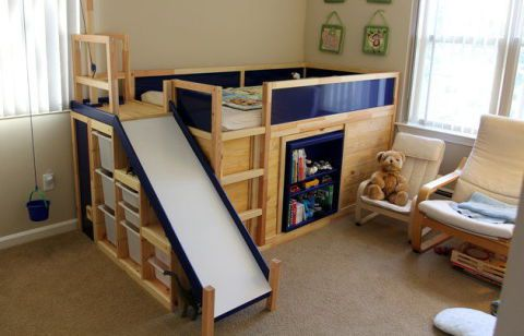 Kura Bed with Slide and Secret Room