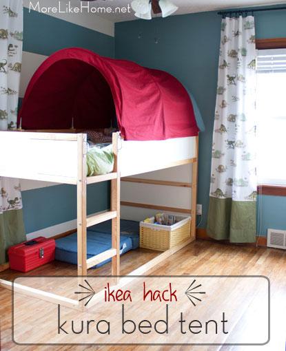 Kura Tent Bed IKEA Hack