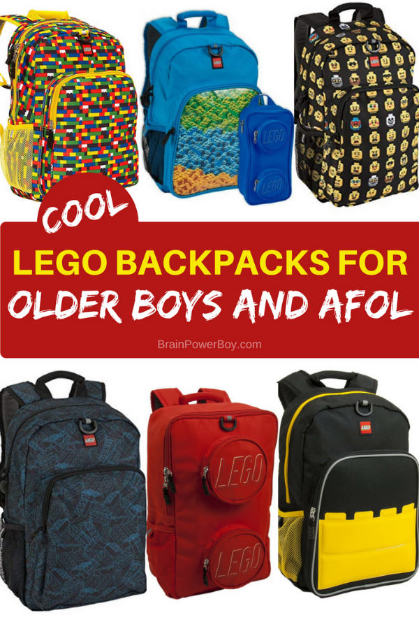 Know an older boy or an adult fan of LEGO who needs a new backpack (or another backpack?!) They are going to love carrying these! Tap to see all the selections.