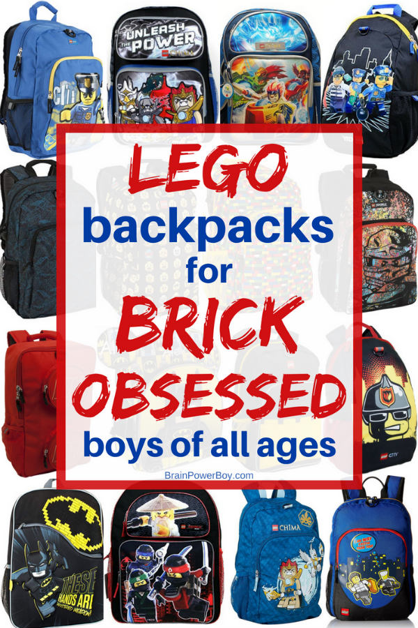 If they love LEGO, you just have to check out these cool LEGO Backpacks. They are perfect for back to school, homeschooling or for carrying all their LEGO stuff! Click to see them all!!