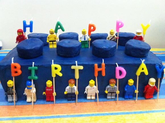 LEGO Brick Birthday Cakes