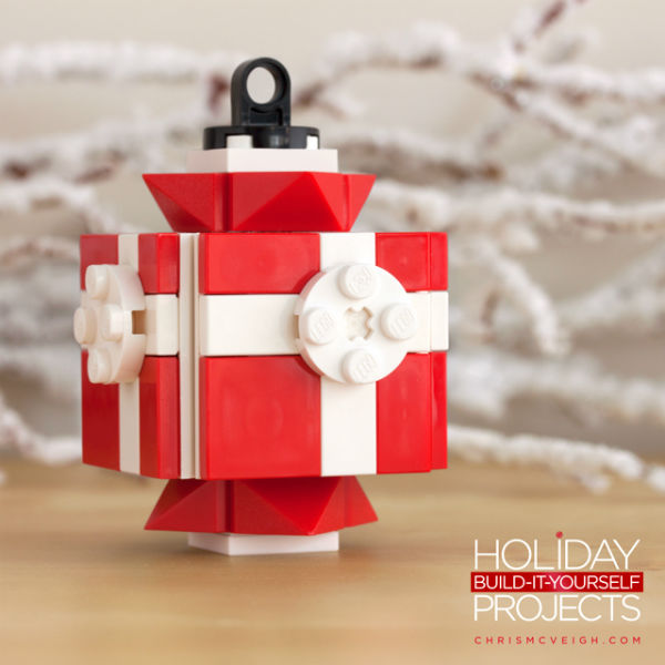 LEGO Chris McVeigh Red Present Ornament