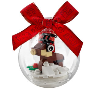 LEGO Reindeer in Clear Ornament Ball