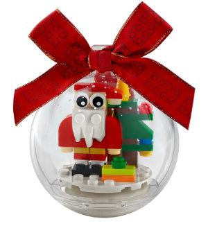 LEGO Santa in Clear Ornament Ball
